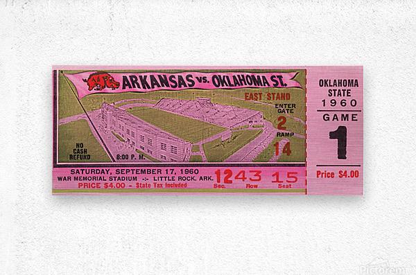 1960 Arkansas Razorbacks vs. Oklahoma State Cowboys  Metal print