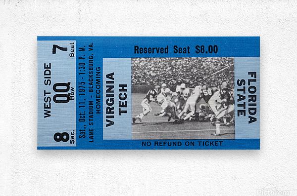 1975 Virginia Tech Gobblers vs. Florida State Seminoles  Metal print