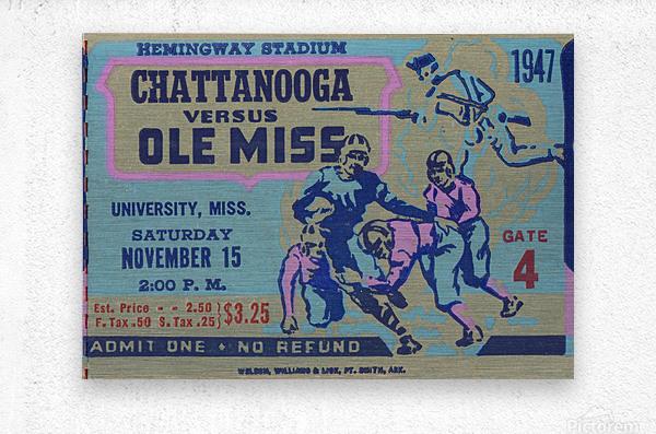 1947 Ole Miss Rebels vs. Chattanooga  Metal print