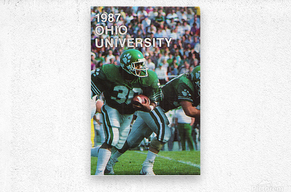 1987 Ohio Bobcats Retro Football Poster  Metal print