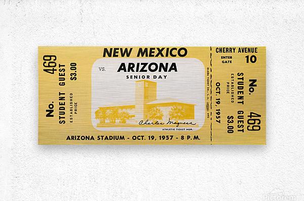 1957 Arizona Wildcats vs. New Mexico Lobos  Metal print
