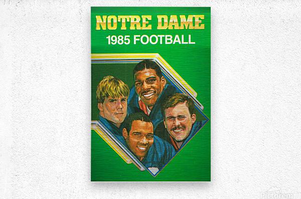 1985 Notre Dame Retro Football Poster  Metal print