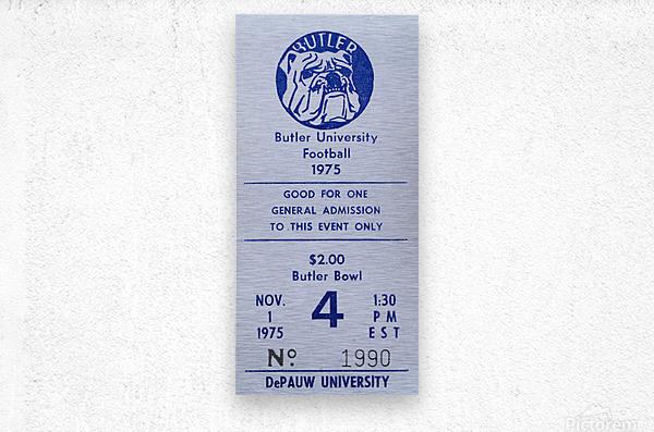 1975 Butler Bulldogs vs. DePauw  Metal print