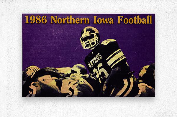 1986 Northern Iowa Panthers Football Poster  Metal print