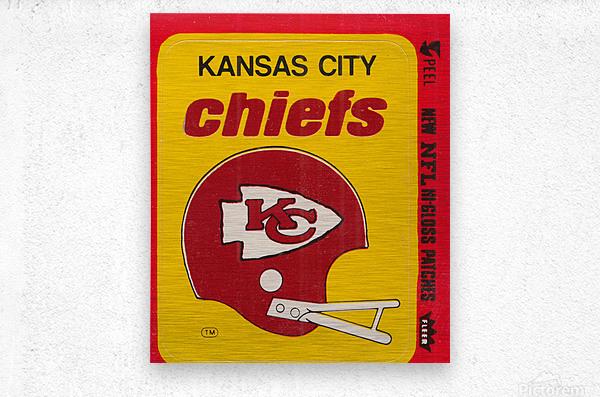 1980 Kansas City Chiefs Fleer Decal Art  Metal print