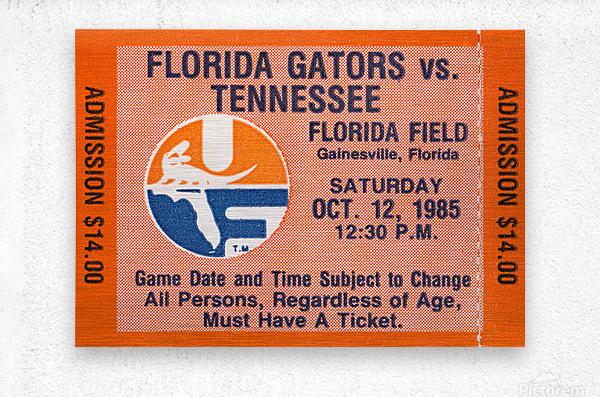 1985 Florida Gators vs. Tennessee Vols  Metal print
