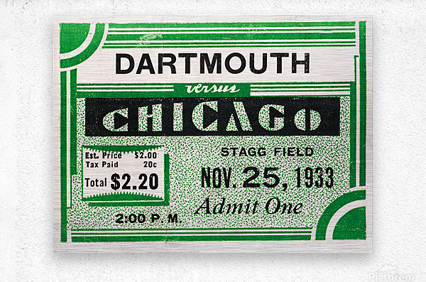 1933 Dartmouth Indians vs. Chicago Maroons  Metal print