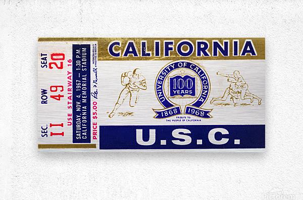 1967 California Bears vs. USC Trojans  Metal print