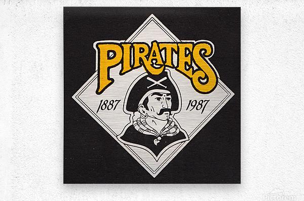1988 Pittsburgh Pirates Retro Art  Metal print