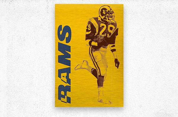 1986 LA Rams Football Art  Metal print