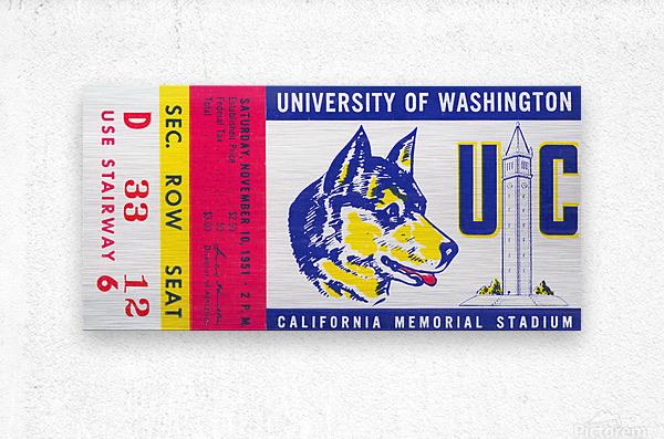 1951 California Bears vs. Washington Huskies  Metal print