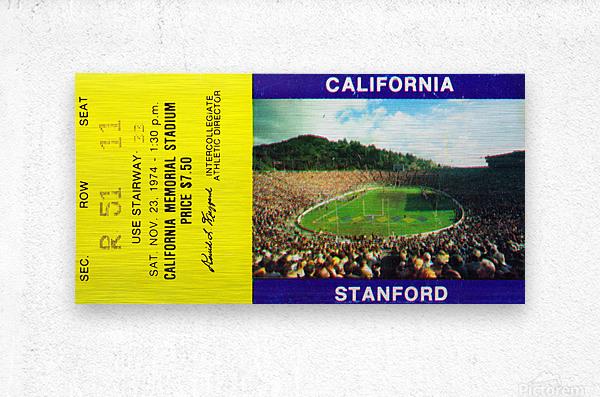 1974 California Bears vs. Stanford Cardinal  Metal print