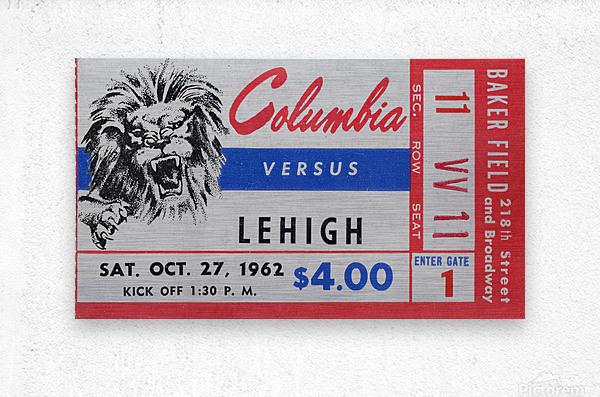 1962 Columbia Lions vs. Lehigh Engineers  Metal print