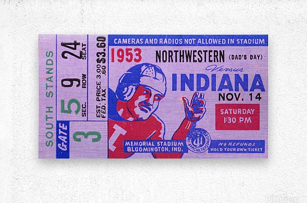 1953 Indiana Hoosiers vs. Northwestern Wildcats  Metal print