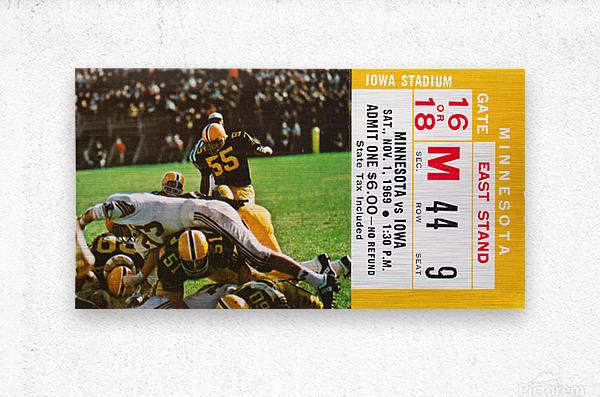 1969 Iowa Hawkeyes vs. Minnesota Golden Gophers  Metal print