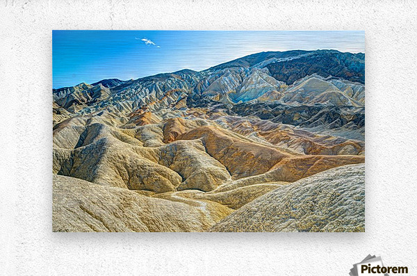 Death Valley Waves  Metal print