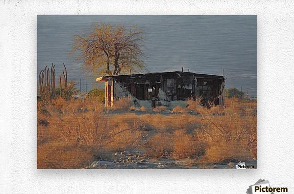 Abandoned in the Desert  Metal print