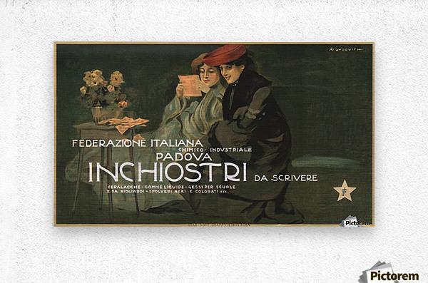 Federazione Italiana Chimico Industriale Padova Inchiostri Da Scrivere Poster  Metal print