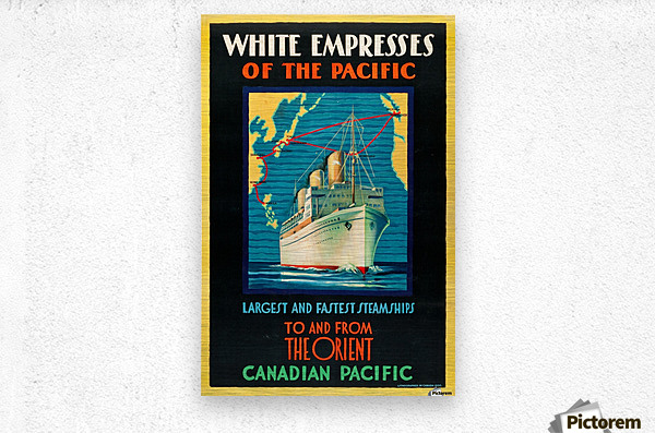 Canadian Pacific Travel Poster  Metal print