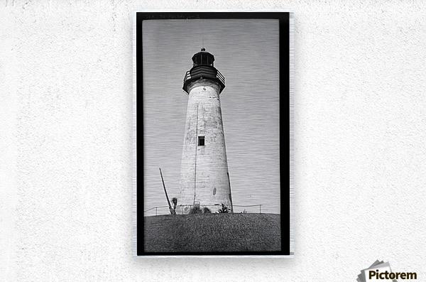 Point-Isabel-Light-Station-Texas  Metal print