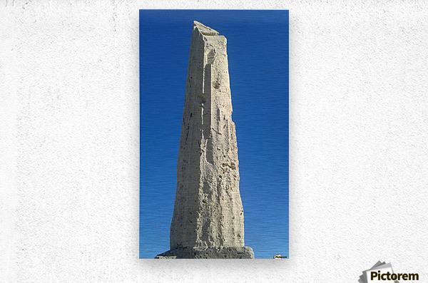 Old ruin near the coast of Aegina Island, Greece  Metal print