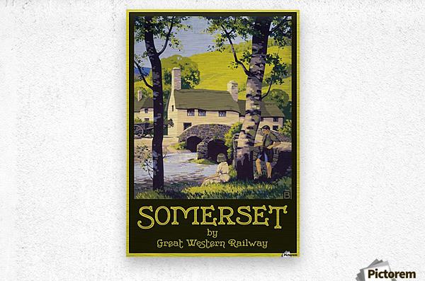 Great Western Railway Somerset travel poster  Metal print