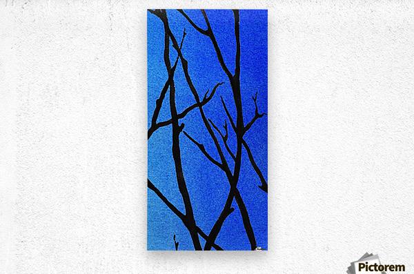 Ultramarine Forest Winter Blues III  Metal print
