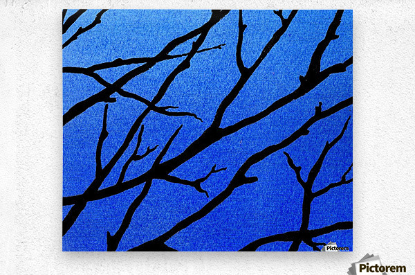 Ultramarine Forest Winter Blues II  Metal print
