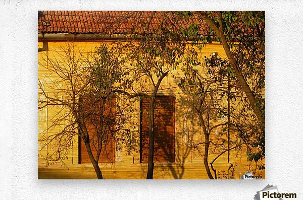 Autumn day in old town Varias  Metal print