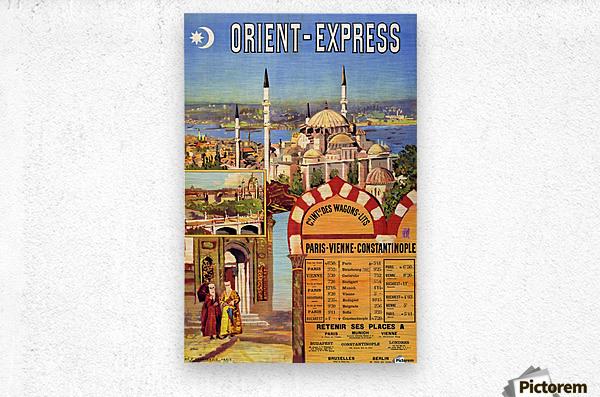1891 Vintage Travel Poster Orient Express Ochoa y Madrazo  Metal print