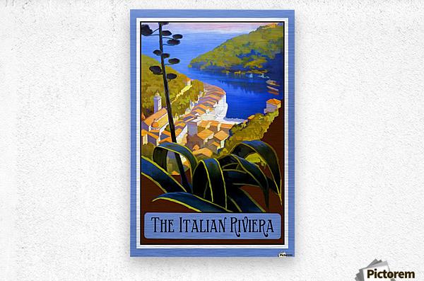 The Italian Riviera  Metal print