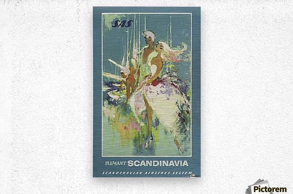 SAS Pleasant Scandinavia Airline Poster  Metal print