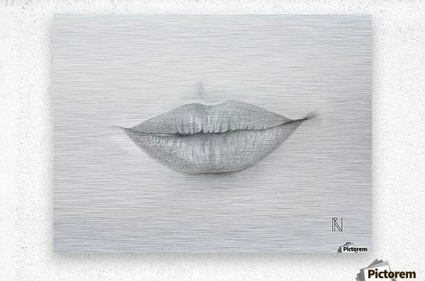 Mouth  Metal print