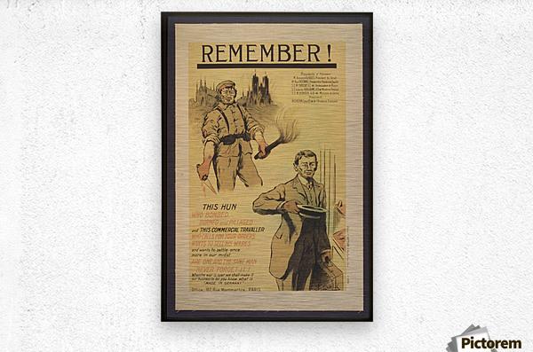 Vintage---Remember-the-Hun  Metal print