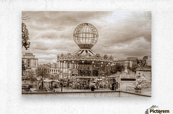 Paris Caroussel  Metal print