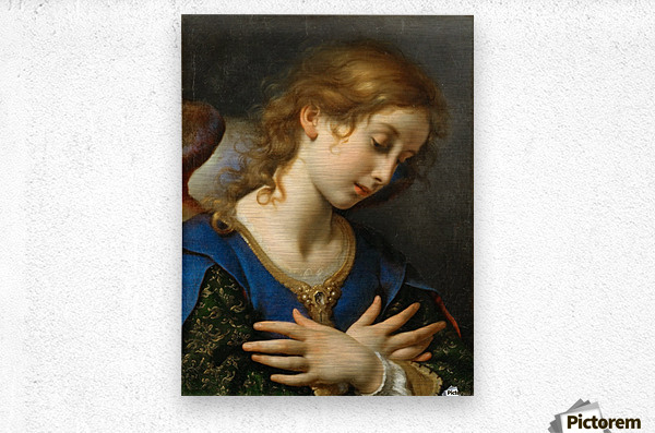 The Angel of Annunciation, 1653  Metal print
