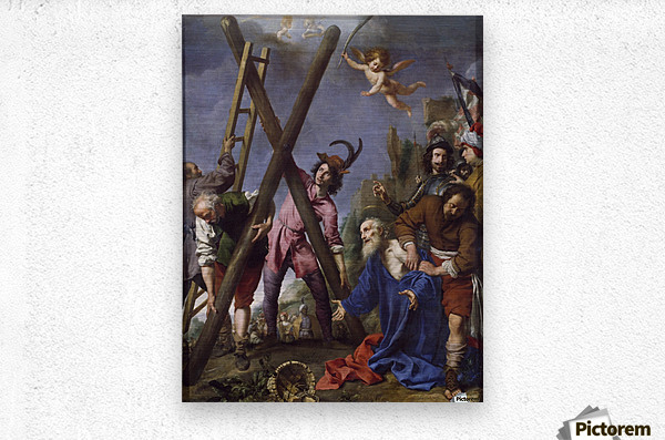 The Martyrdom of St Andrew  Metal print