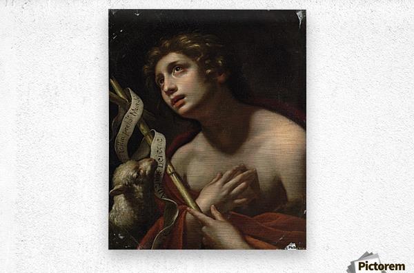 Saint John the Baptist with the Lamb of God  Metal print