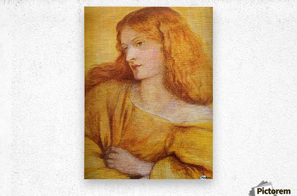Woman in Yellow  Metal print