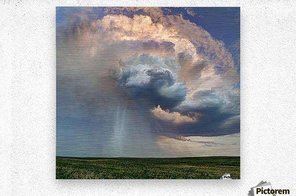 July Rain Storm  Metal print