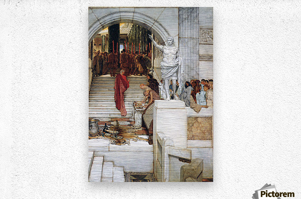 After the Audience by Alma-Tadema  Metal print