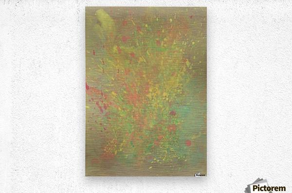 Cosmic explosion  Metal print