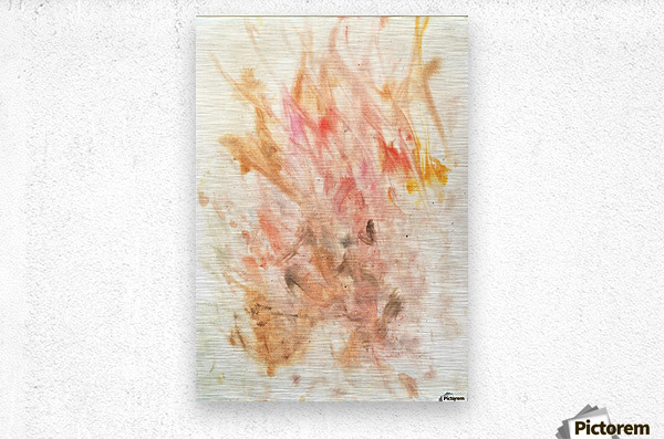 Frustration flames  Metal print