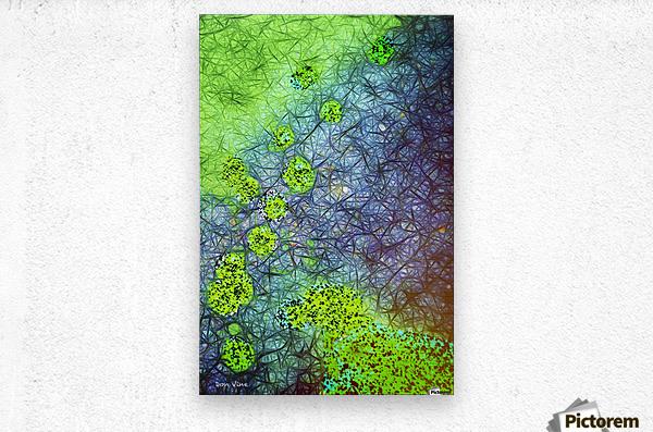 Green Paint Drops_120828_17039 HXSYV  Metal print