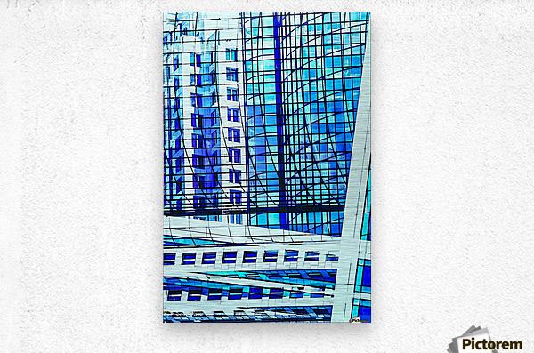 Glass and Concrete Towers_130515_14_183 HXSCYV  Metal print