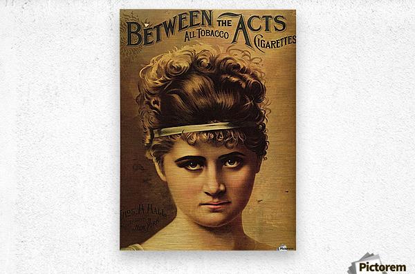 Vintage Cigarette Poster 1890  Metal print