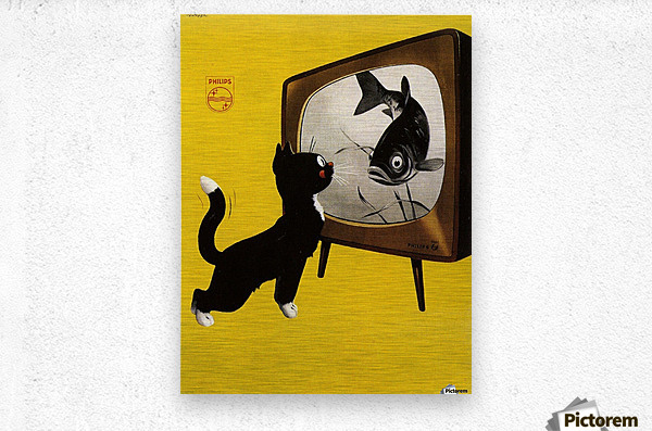 Dutch poster for Philips Tv, 1951  Metal print