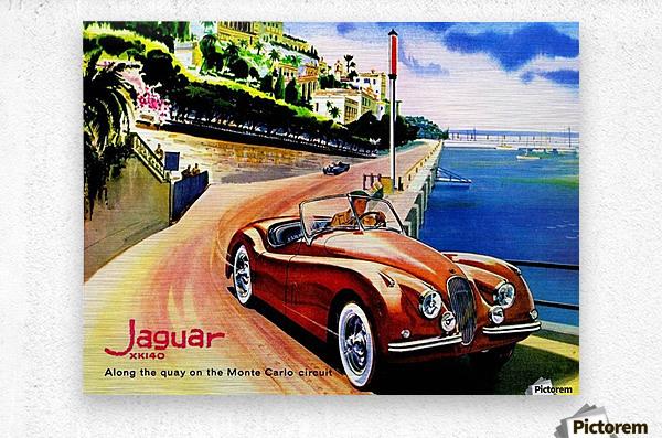 Jaguar Advertising Vintage Poster  Metal print