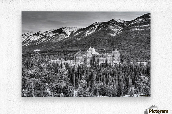 Banff_Hotel  Metal print