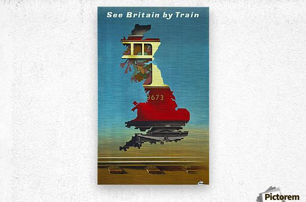 See Britain by Train, 1951 vintage poster  Metal print